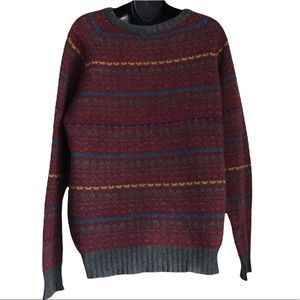 Vintage McGregor Wool blend ribbed crew neck sweater with ribbed cuffs and hem